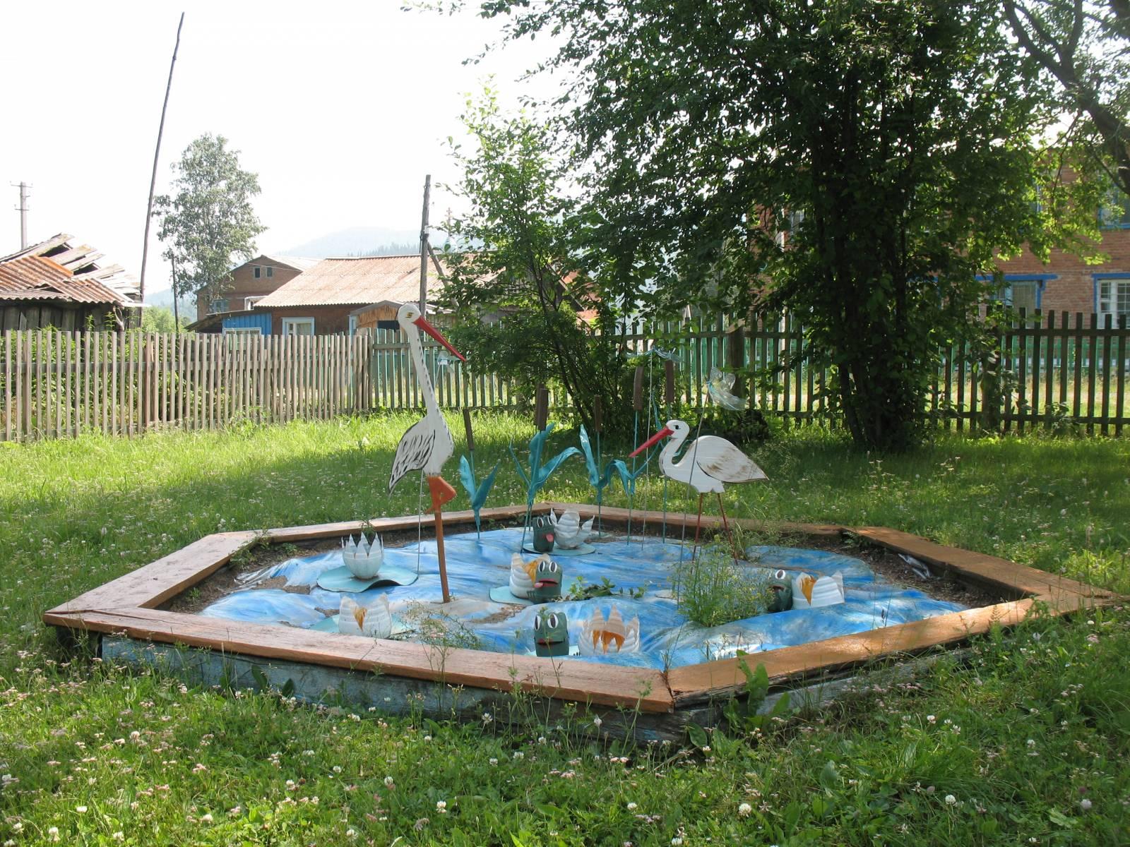 Озеро на участке детского сада своими руками